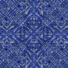 3d Effect - Abstract Fractal Seamless Blue Graphic