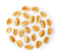 Set Of Peanuts Nuts On A White...