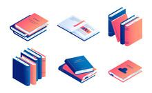 Isometric Book Vector Illustra...
