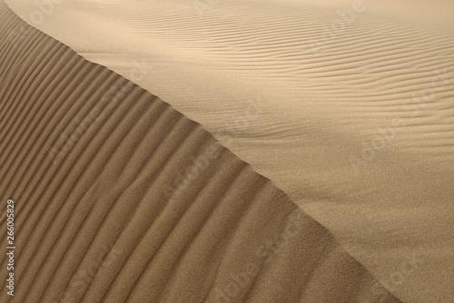 Photo Abstract ripples at Singing Sand Dune peak Altyn Emel National Park Kazakhstan