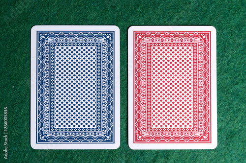 Fotografia  Back of the two playing cards