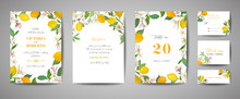 Set Of Botanical Wedding Invit...