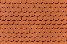 Texture Of Red Tiled Roof