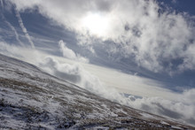 Snowy Landscape With Rolling H...