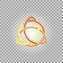 Triquetra In Circle, Trefoil Sacral Vector Symbol
