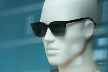 Closeup Of Sun Glasses On Mannequin In Fashion Store Swhowroom For Men