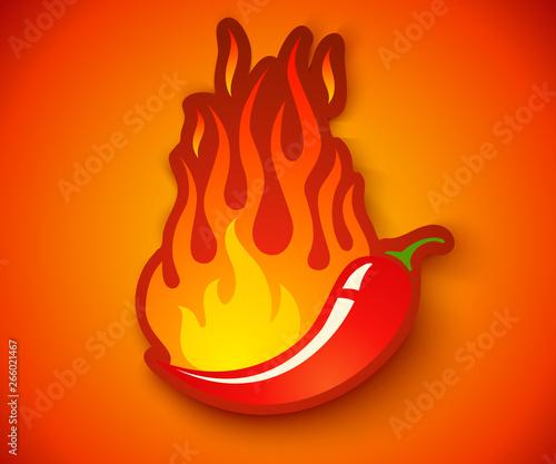 Fotografia Chilli with fire