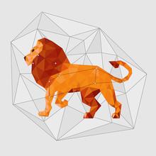 Leo Constellation. Low Polygon...
