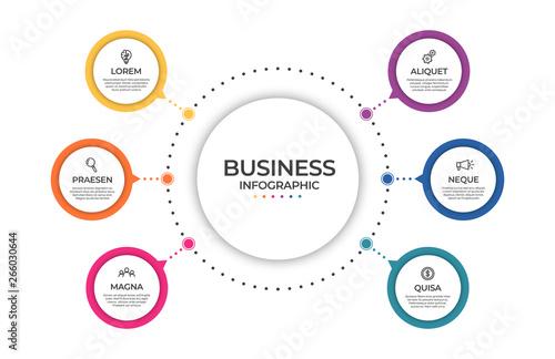 Business infographic template Tableau sur Toile