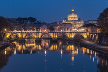 Tiber And St Peters Basilica W...