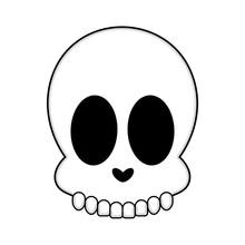 Isolated Happy Human Skull Cartoon Image - Vector