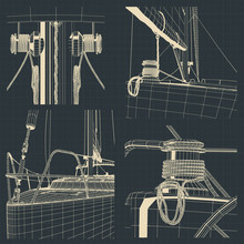 Drawings Of The Bow And Winch ...