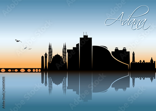 Adana skyline - Turkey Wallpaper Mural
