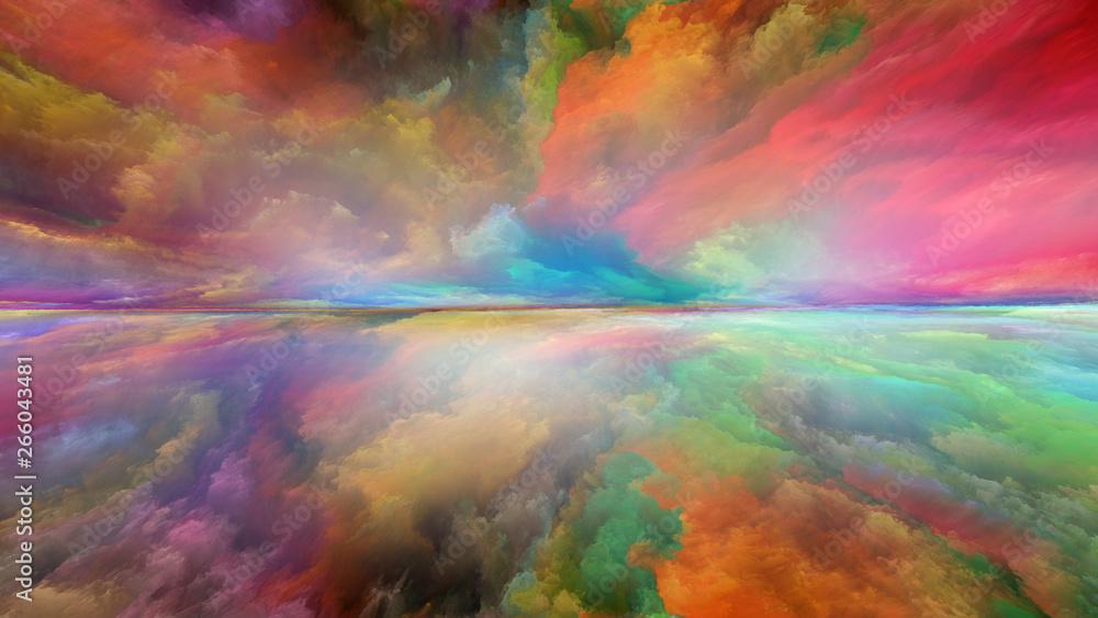 Fototapety, obrazy: Virtual Abstract Landscape