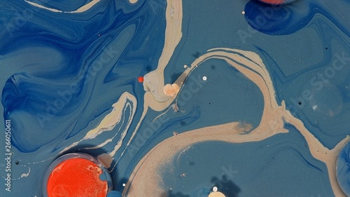 brown yellow blue orange striking painted abstract