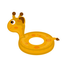 Isolated Pool Float Shaped Giraffe Image - Vector