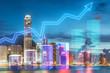 Leinwandbild Motiv Trading concept with financial chart
