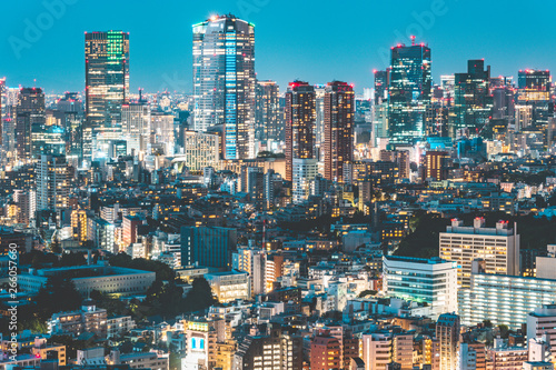 Photo  Beautiful night view of Tokyo