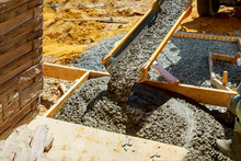 Working For Concrete Pavement For Ground Flooring Construction