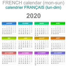 2020 Calendar French Language ...