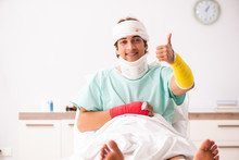 Young Injured Man Staying In T...