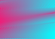 Pink And Blue Abstract Curved Refracted Lines Background