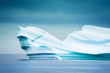 Big Blue Iceberg In The Atlantic Ocean Near Ilulissat Ice Fjord, Western Greenland
