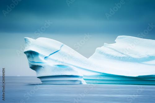 Fotografie, Obraz  Big blue iceberg in the Atlantic ocean near Ilulissat ice fjord, western Greenla