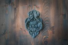Old Metal Door Handle Knocker ...