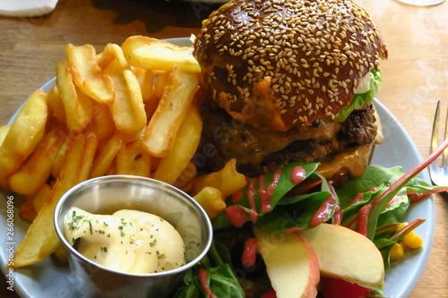 Fotomural burger frites