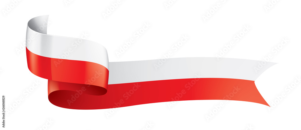 Fototapety, obrazy: Poland flag, vector illustration on a white background