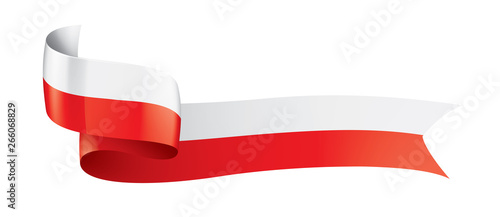 Fototapeta Poland flag, vector illustration on a white background obraz