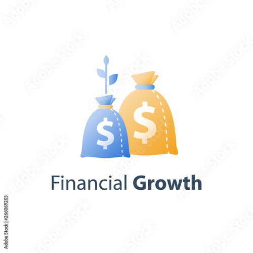 Photo Financial value steady growth, long term investment strategy, asset allocation,