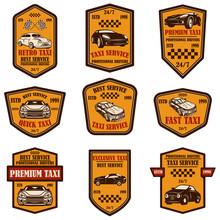 Set Of Taxi Service Emblems. D...