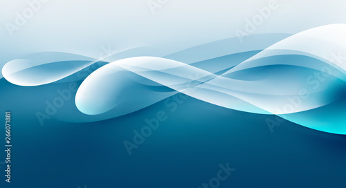 abstract water wave - 266071881