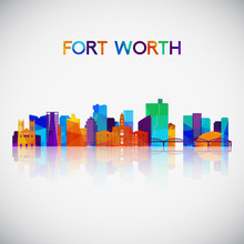 Fort Worth Skyline Silhouette ...