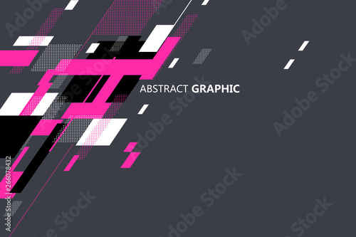 Abstract graphic stacked in geometric shapes.