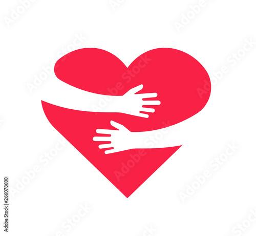 Fototapeta Hugging heart