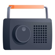 Portable Radio Icon. Cartoon Of Portable Radio Vector Icon For Web Design Isolated On White Background