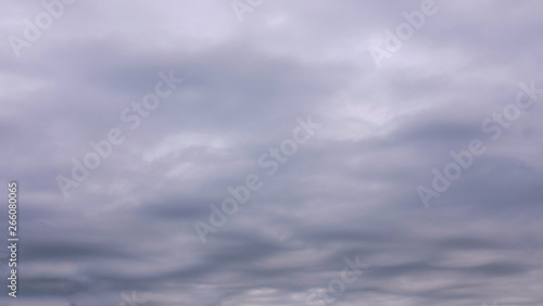 stratocumulus undulatus  special kind of cloud before after the storm summer clo Fototapet