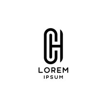 CH Letter Initial Logotype Modern And Minimalist Concept Design