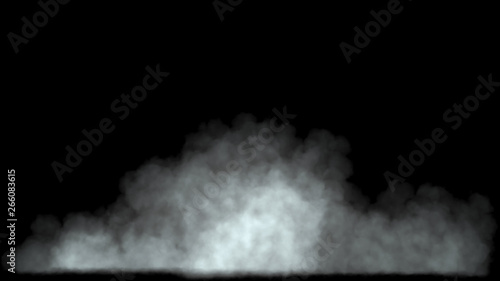 Garden Poster Smoke Low cloud or fog at bottom black background 3d render