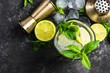 canvas print picture - Refreshing authentic cuban Mojito drink