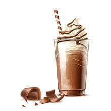 Realistic Frappe Coffee In Dis...