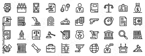 Photo Lawyer icons set