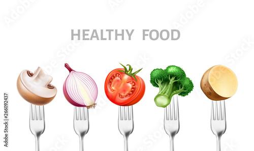 Fotografie, Obraz  Healthy food concept