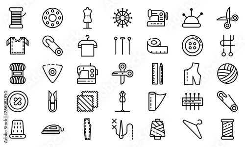 Photo Tailor icons set