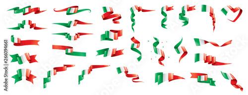 Fototapeta Italy flag, vector illustration on a white background. obraz