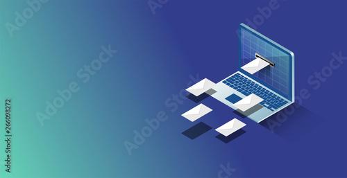 Fototapeta posta, posta elettronica, provider, hosting, email,  obraz