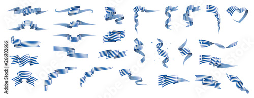 Photo  Greece flag, vector illustration on a white background.